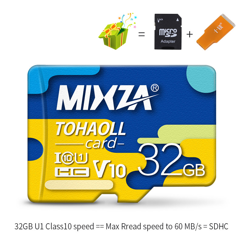 MIXZA BF Memory Card 256GB U3 80MB/S Class10 128GB 64GB 32GB U1 Micro sd card UHS-1 flash card Memory Microsd TF/SD Cards