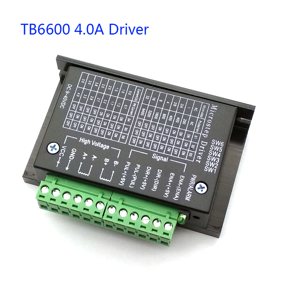 42/57/86 TB6600 Wood Router Machine Stepper Motor Driver 32 Segments Upgraded Version 4.0A 42VDC Milling Kits