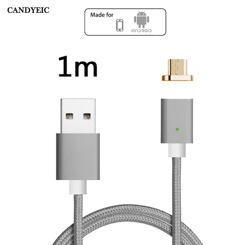 CANDYEIC Android Magnetic Micro USB Cable For Xiaomi 4 Redmi 5 4x 4a 3 Charging, Magnetic Cable For Redmi Note 5 pro 4x 4 Charge-in Mobile Phone Cables from Cellphones & Telecommunications on AliExpress