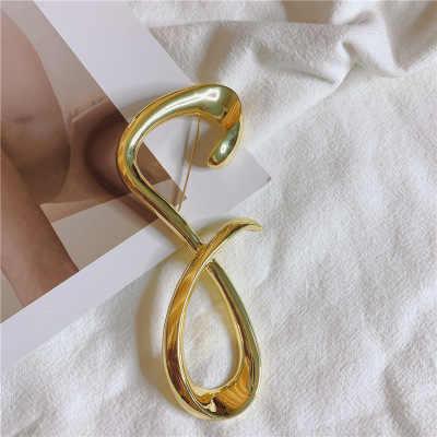 AOMU 8 1PC Moda Broche De Pino de Metal Geométrica Irregular Forma Broches para As Mulheres Do Partido Jóias Acessórios
