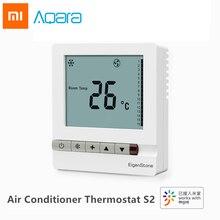 Xiaomi Aqara EigenStone S2 Inteligente Termostato Do Ar Condicionado Refrigeração Ventilador de Controle de Temperatura de Aquecimento Para Ar Condicionado Central