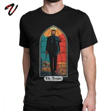 John Wick Back In Black T-Shirt Parabellum Keanu Reeves per Uomo T-Shirt Baba Yaga Action Movie Magliette e camicette Magliette della Cultura Pop tee Shirt(China)