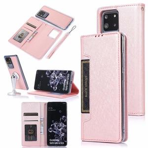 Image 5 - Gizli rotasyon kartları tutucu cüzdan samsung kılıfı not 10 artı 10 + 8 9 S8 S9 S10 artı S7 kenar Flip deri telefon kılıfı kapak