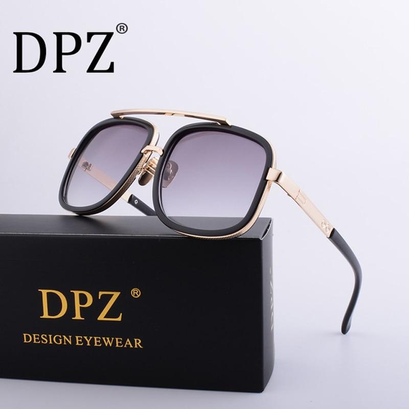 DPZ HOT New Brand Men's Design Large Frame Ditaeds Sunglasses Vintage Steampunk Women Sun Glasses Grandmaster UV400