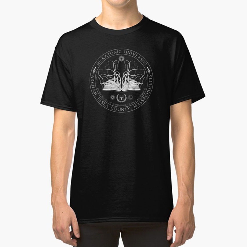 Miskatonic Sigil T - Shirt Miskatonic Cthulhu University Arkham <font><b>Massachusetts</b></font> Horror Goth Monster Call Of Cthulhu Rpg image