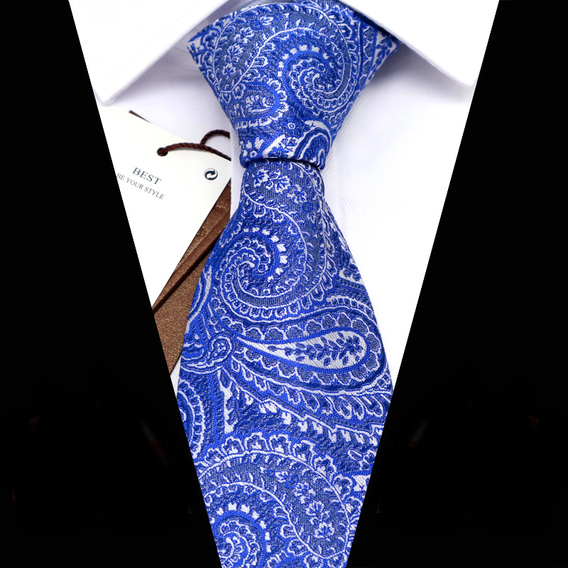 YISHLINE Men Ties 8 Cm Fashion Floral Paisey  Jacquard Woven Necktie Mens Tie 2020 Business Corbata Para Hombre Accessories