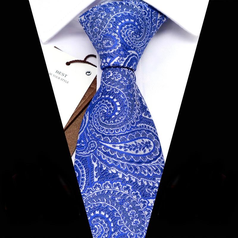 YISHLINE Men Ties 8 Cm Fashion Floral Paisey  Jacquard Woven Necktie Mens Tie 2020 Business Corbata Para Hombre Accessories