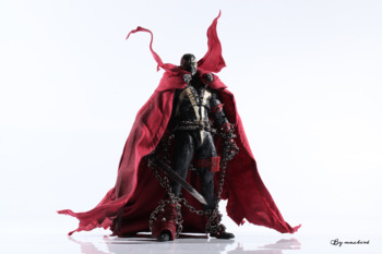 McFarlane Spawn Reggae Happy Red Robe Accessory Luxury Cloak Cape With Chain Movable Dolls Toy Model Parts No Figure