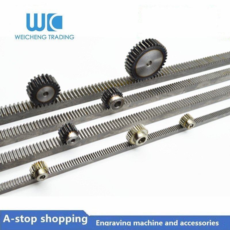 5pc 1Mod 1 Modulus High Precision Gear Rack Steel 10*10*1000mm + 5pcs 1M 20teeth Spur Pinion Gears Cnc Parts
