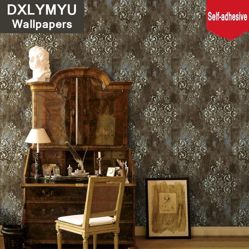 Vintage Wall Sticker Self-adhesive Waterproof Wallpaper Living Room Decoration