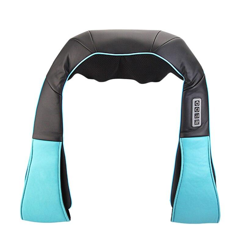 Home Car U Shape Electrical Shiatsu Back Neck Shoulder Body Massager Infrared Heated Kneading Car/Home Massagem Black