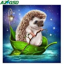 AZQSD Diamond Embroidery Hedgehog 5D DIY Painting Animal Cross Stitch Full Drilling Picture Of Rhinestones Handmade Gift