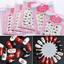 1 шт Новые рождественские мини-наклейки для ногтей, сделай сам, художественные 3D бронзовые наклейки для ногтей, новогодние, рождественские украшения, рождественские, вечерние