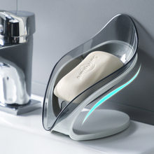 Creative Transparent Leaf Soap Box Bathroom Soap Shower Soap Holder Dish Storage Plate Tray Bathroom Supplies Bathroom Gadgets