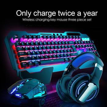 Mechanical Keyboard Mouse Combos Wireless Rechargeable Gaming Mechanical Keyboard Mouse K680 2.4G Non-Conflict PC Keyboard Mouse 1