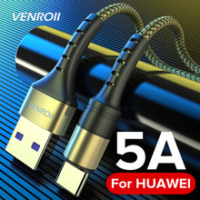 Venroii Kabel USB Type C 5A Supercharge voor Huawei Mate 20 P30 P20 Pro Snel Opladen Telefoon Cord voor Honor 20 10 8 V10 USBC Cabo(China)