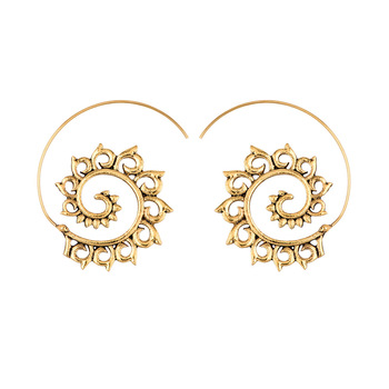 Earrings For Women Fashion Spiral Modern Heart Leaf Tree Vintage Golden Silver Glamour Trend Sexy Beach Vacation Dangler Earring 4