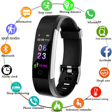 Водонепроницаемые Смарт-часы 115 Plus, спортивный смарт-браслет с пульсометром, тонометром, фитнес-часы для Android и IOS