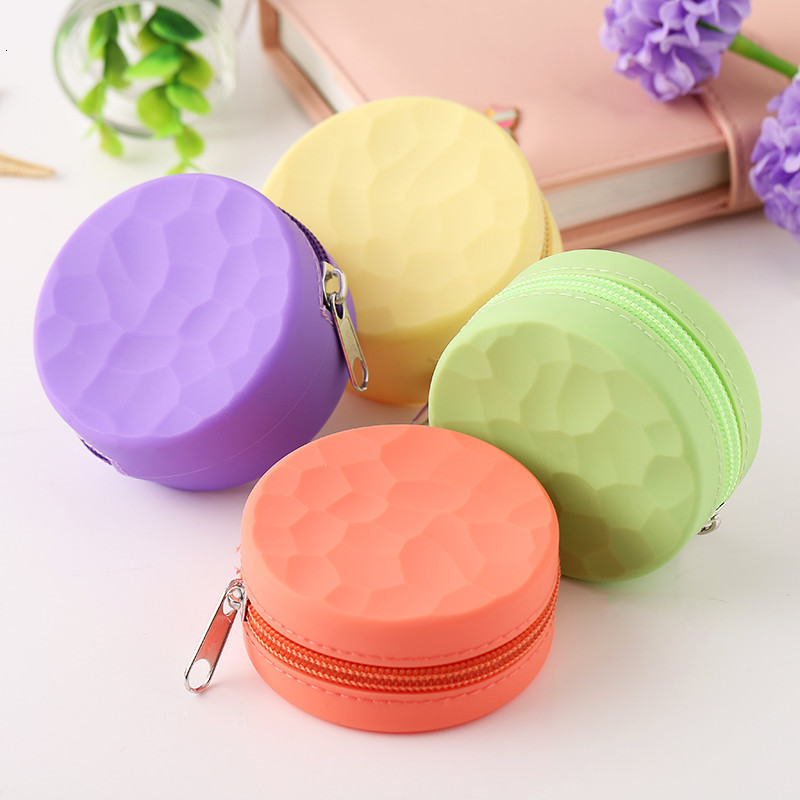 NEW Women Silicone Coin Purse Cartoon Round Wallet Headset Bag Samll Change Purse Wallet Pouch Bag for Kids Girl Gift 2019