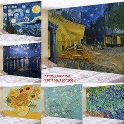 Настенный гобелен с геометрическим принтом Ван Гога, для спальни, зала, настенная живопись, гобелен (95 х7, 3 см/150 х10, 0 см/150 х13, 0 см/200 х150 см)