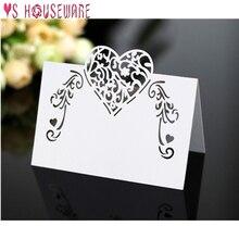 25 шт. лазерная резка в форме сердца карты места Свадебные именные карты для свадебной вечеринки украшения стола Свадебные украшения
