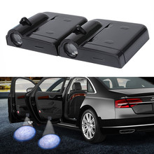 цена на 2X LED Car 3D Door Welcome Logo Projector Light For SEAT Leon 1 2 3 MK3 FR Cordoba Ibiza Arosa Alhambra Altea Exeo Toledo Cupra
