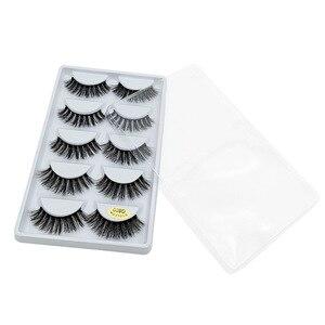 Image 5 - 5 Paar Natuurlijke Valse Wimpers Wimpers Eye Make Up 3D Mink Wimpers Wimper Extension Mink Wimper Beauty Tools G800