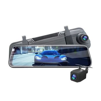 Streaming Driving Recorder Plastic 10 Inch Full Screen Hd Night Vision Dual Lens 1080P With Reversing Image 1 Set