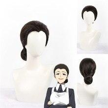 Обещанный Neverland Isabella Косплэй парик Yakusoku без Neverland женские черные волосы Головные уборы костюм горничной Хэллоуин Аниме Accesso