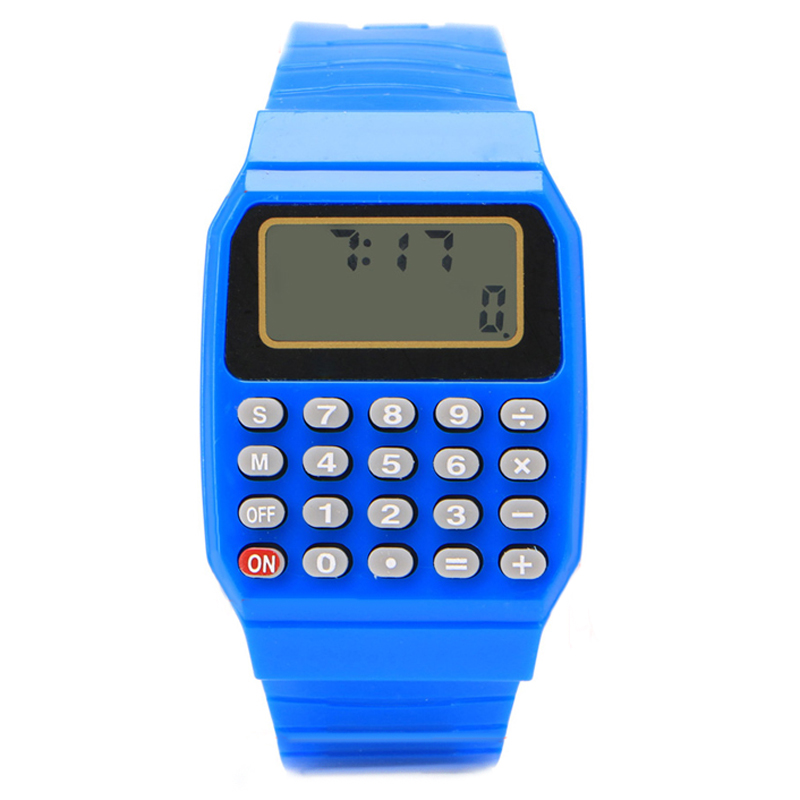 Fashion Calculator Watches Children Led Digital Watches Kids Watch Silicone Band Electronic Watch Montre Enfants Reloj Infantil
