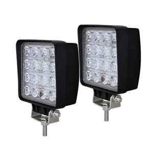 Image 5 - 10 pces 4 polegada 48w conduziu a luz do trabalho lâmpada do carro 4x4 atv conduziu luzes de trabalho caminhão 12v condução nevoeiro holofotes trator luzes offroad