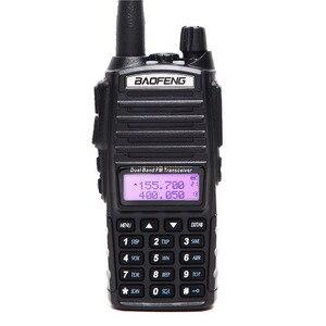 Image 2 - 2 Stuks Baofeng UV 82 5W Draagbare UV82 Walkie Talkie Dual Band 2 Ptt Vhf Uhf Uv 82 Ham Amateur radio Transceiver + NA 771 Antenne