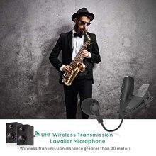 Ituf УВЧ саксофон микрофон беспроводной микрофон Система клип на музыкальные инструменты для саксофона труба саксофон рог туба флейта