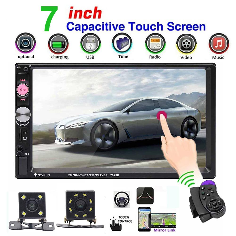 Car Radio 7023B HD 7 Inch 2 Din Car Radio Bluetooth Audio Video MP5 Player with Rear Camera|Car Monitors| |  - title=