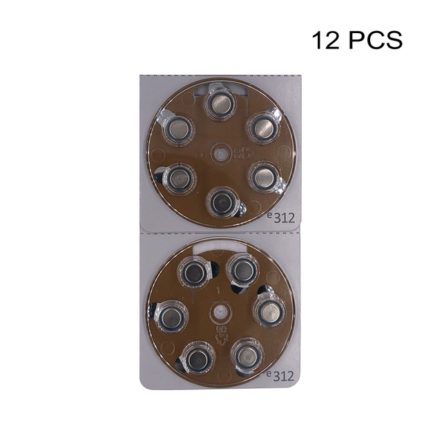Işitme cihazı güç piller PR41 1.4V kahverengi Tab çinko hava düğmesi hücre pil e312 değiştirir A312 312 312A DA312 P312 S312 ZA312