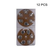 מכשיר שמיעה כוח סוללות PR41 1.4V חום Tab אבץ אוויר כפתור תא סוללה e312 מחליף A312 312 312A DA312 P312 S312 ZA312