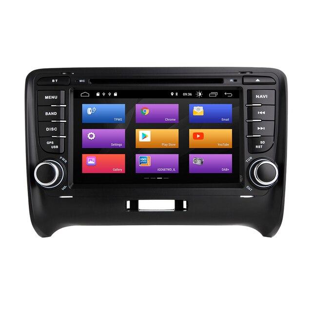 Android 9.0-Autoradio intégré | Autoradio, CarPlay, Navigation GPS, Compatible avec Audi TT MK2 8J 2006-2016, lecteur de médias