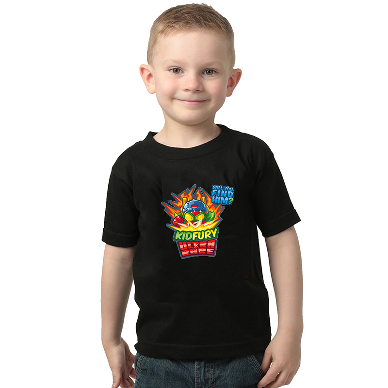 Super Zings Series 4 Baby Boys T-Shirts Superzings Print Black Tshirt Kids Tees Children Summer Cotton Girls Tops 2-10T Clothing