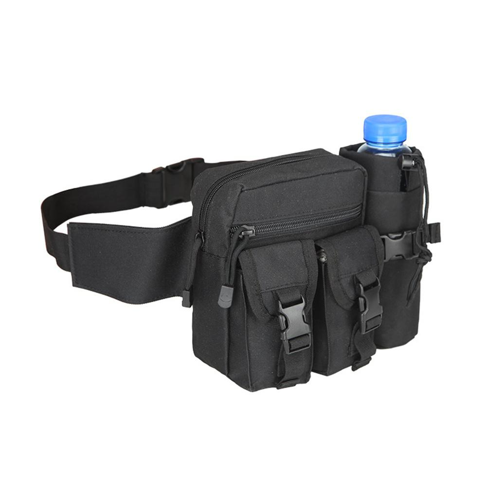Men Waist Bag Tactical Waist Pack Pouch With Water Bottle Holder Waterproof 800D Nylon Belt Bum Bag Waist Bag Men