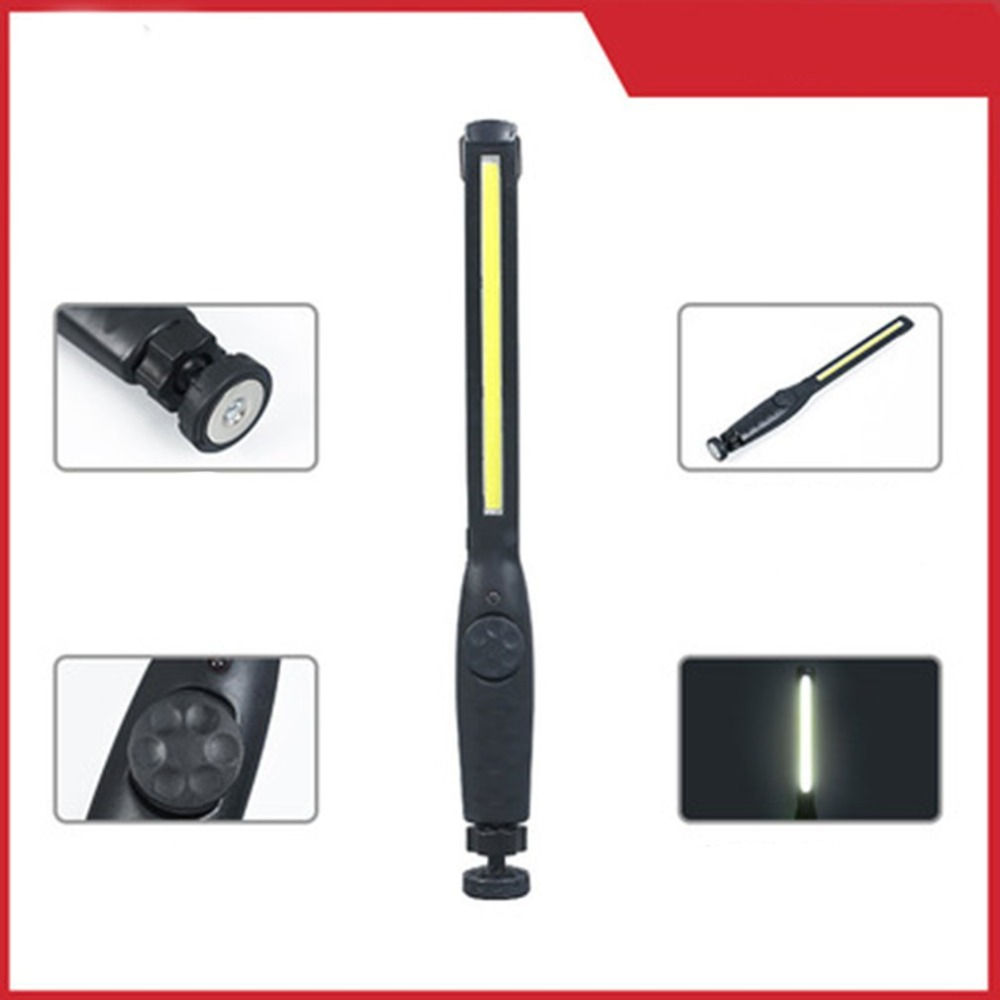Portable COB LED Flashlight Rechargeable Adjustable LED Work Light Inspection Lamp Garage Light Hanging Torch Lamp