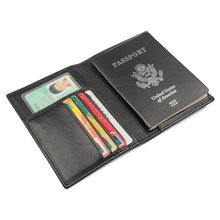 Rfidシールドパスポートホルダー財布本革カバー車の運転ドキュメントカードホルダー革トラベルケース財布