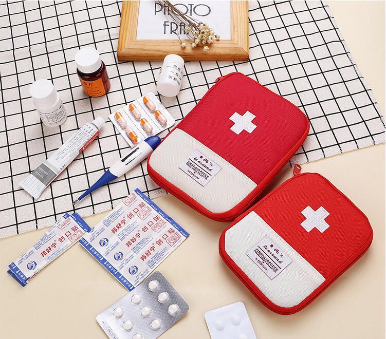 Портативный аптечка первой помощи сумка для путешествий Медицина посылка набор для оказания первой медицинской помощи сумки маленькие мед...