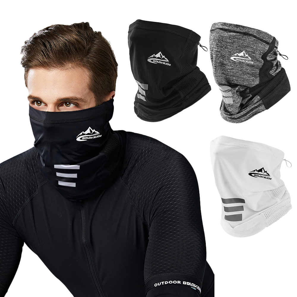 Black Cycling Half Face Mask Ice Silk Motorcycle Biker Neck Tube Scarf Snood Motorcycle Bike Headwear Cycling Half Face Mask