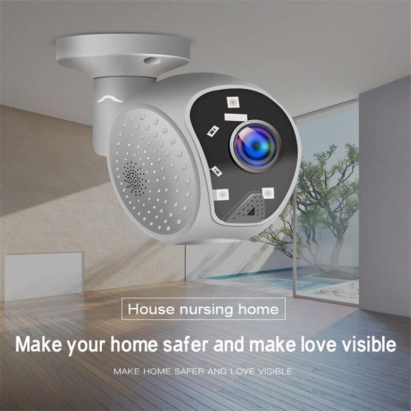 180 graus panorâmica wifi câmera 1080 p hd ptz ip câmera ao ar livre à prova dwifi água wifi rede cctv câmera de vigilância para escritório em casa