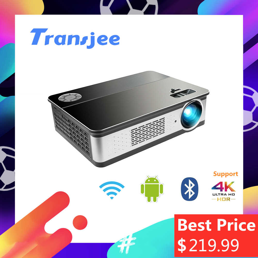 TRANSJEE 1080P проектор Soutien 4K Projecteur pour Téléphone Full HD Home Cinéma Android 3D LED Projecteur 5800 Lumens проэктор
