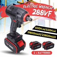 630N.m High Torque 22800mAh Brushless Cordless Electric Wrench Impact Wrench DIY Rechargeable WIth 2 Li ion Battery Power Tools