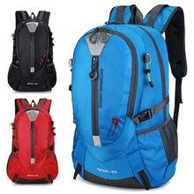 40l escalada à prova d40água mochila de viagem dos homens designer saco pacote caminhadas volta pacote unisex acampamento ao ar livre mochilas náilon esporte sacos