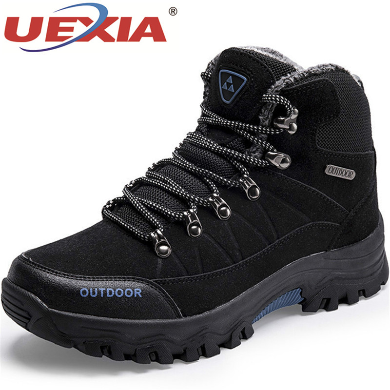 UEXIA NEW Outdoor Sport Footwear Super Warm Men Winter Boots Men High Quality Snow For Men Warm Shoes With Fur Men's Ankle Boots