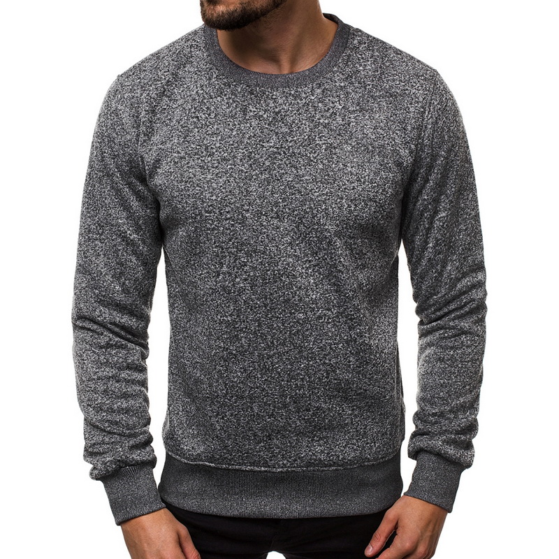 MONERFFI Soild O-Neck Sweater Men'S Casual Winter Long Sleeve Pullover Fashion Sweatshirt Simple Wild Men'S Clothing Tops New
