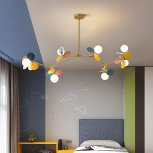 Image 2 - Modern Iron Art Pendant Lights LED Pendant Lamp Lighting Colorful Living Room Bedroom Dining Room Loft Home Decor Light Fixtures